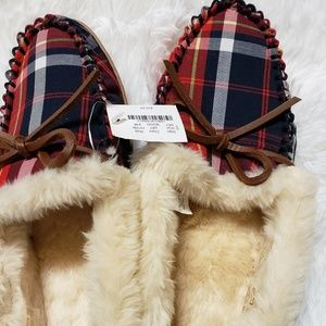 J. Crew Shoes - J Crew Plaid Slippers New size 9